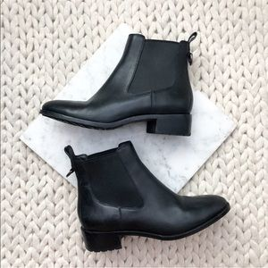 Cole Haan Black Waterproof Leather Chelsea Boots